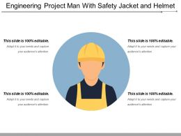 Engineering Project Man With Safety Jacket And Helmet