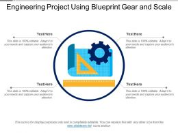 Engineering Project Using Blueprint Gear And Scale