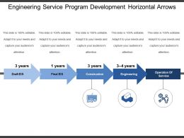 Engineering Service Program Development Horizontal Arrows