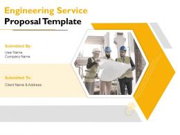 Engineering Service Proposal Template Powerpoint Presentation Slides