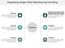 Engineering Supply Chain Manufacturing Consulting Ppt Powerpoint Presentation Outline Diagrams Cpb