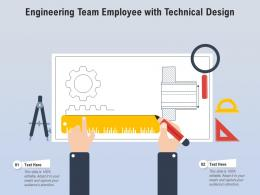Engineering Team Employee With Technical Design