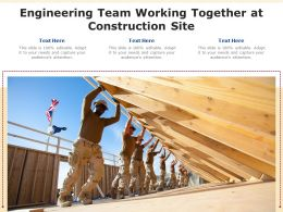 Engineering Team Working Together At Construction Site