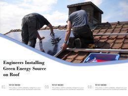 Engineers Installing Green Energy Source On Roof