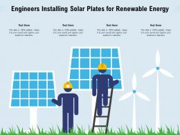 Engineers Installing Solar Plates For Renewable Energy