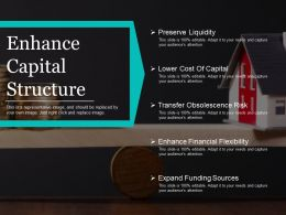 Enhance Capital Structure Ppt Example