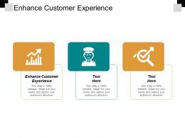 Enhance Customer Experience Ppt Powerpoint Presentation Model Slides Cpb