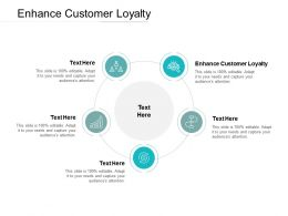 Enhance Customer Loyalty Ppt Powerpoint Presentation Infographics Skills Cpb
