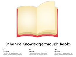 Enhance Knowledge Through Books