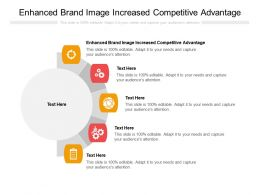 Enhanced Brand Image Increased Competitive Advantage Ppt Powerpoint Presentation Ideas Cpb