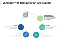Enhanced Workforce Efficiency Effectiveness Ppt Powerpoint Presentation Ideas Templates Cpb