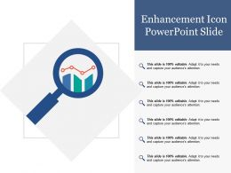 Enhancement Icon Powerpoint Slide