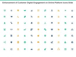 Enhancement Of Customer Digital Engagement On Online Platform Icons Slide Ppt Slides