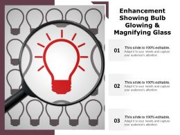 Enhancement Showing Bulb Glowing And Magnifying Glass