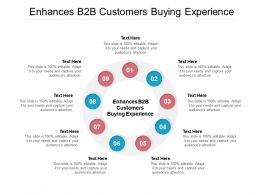 Enhances B2B Customers Buying Experience Ppt Powerpoint Presentation Infographics Cpb