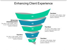 Enhancing Client Experience Ppt Powerpoint Presentation Gallery Inspiration Cpb