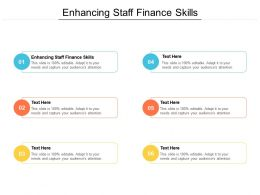 Enhancing Staff Finance Skills Ppt Powerpoint Presentation Icon Model Cpb