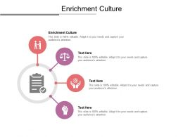 Enrichment Culture Ppt Powerpoint Presentation Layouts Rules Cpb