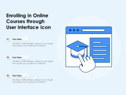 Enrolling In Online Courses Through User Interface Icon