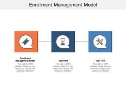 Enrollment Management Model Ppt Powerpoint Presentation Template Cpb