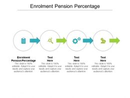Enrolment Pension Percentage Ppt Powerpoint Presentation Portfolio Shapes Cpb