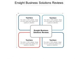 Ensight Business Solutions Reviews Ppt Powerpoint Presentation Example Cpb