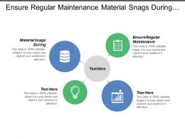 Ensure Regular Maintenance Material Snags During Movements Information System