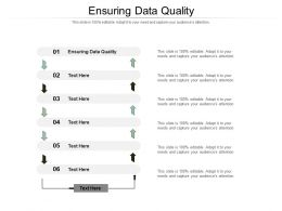 Ensuring Data Quality Ppt Powerpoint Presentation Layouts Outline Cpb