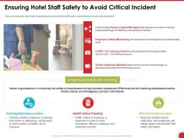 Ensuring Hotel Staff Safety To Avoid Critical Incident Health Ppt Powerpoint Presentation Outline