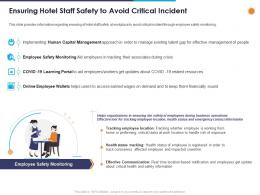 Ensuring Hotel Staff Safety To Avoid Critical Incident Ppt Powerpoint Presentation Styles