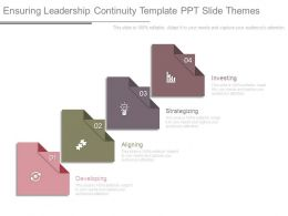 Ensuring Leadership Continuity Template Ppt Slide Themes