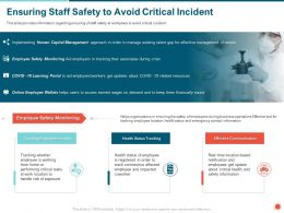 Ensuring Staff Safety To Avoid Critical Incident Coworker Ppt Powerpoint Presentation File Design Ideas