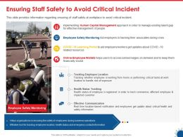 Ensuring Staff Safety To Avoid Critical Incident Information Ppt Presentation Samples