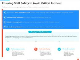 Ensuring Staff Safety To Avoid Critical Incident Ppt Mockup