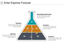 Enter Expense Forecast Ppt Powerpoint Presentation Slides Format Ideas Cpb