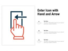 Enter Icon With Hand And Arrow