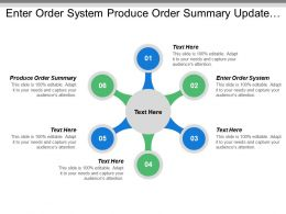 Enter Order System Produce Order Summary Update Order Summary