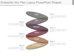 Enterprise Aim Plan Layout Powerpoint Shapes