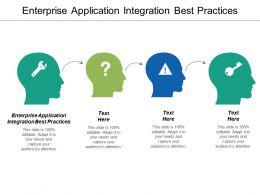 Enterprise Application Integration Best Practices Ppt Powerpoint Presentation Icon Graphics Tutorials Cpb