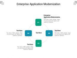 Enterprise Application Modernization Ppt Powerpoint Presentation Infographic Template Cpb
