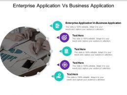 Enterprise Application Vs Business Application Ppt Powerpoint Presentation Pictures Cpb