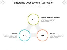 Enterprise Architecture Application Ppt Powerpoint Presentation Visual Aids Outline Cpb