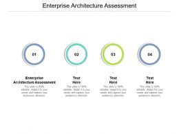 Enterprise Architecture Assessment Ppt Powerpoint Presentation Model Visuals Cpb