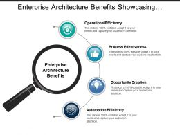 Enterprise Architecture Benefits Showcasing Operational Efficiency And Process Effectiveness