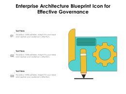 Enterprise Architecture Blueprint Icon For Effective Governance