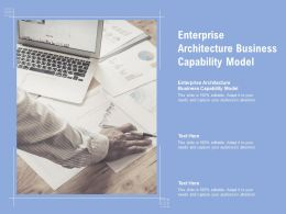 Enterprise Architecture Business Capability Model Ppt Powerpoint Presentation Summary Example File Cpb