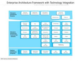 Enterprise Architecture Framework With Technology Integration
