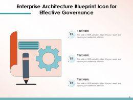 Enterprise Architecture Icon Business Proactive Governance Technology Information
