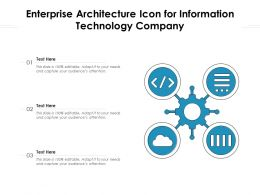 Enterprise Architecture Icon For Information Technology Company