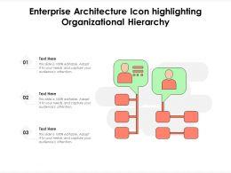 Enterprise Architecture Icon Highlighting Organizational Hierarchy